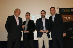 En la imagen, de Izquierda a derecha, Agustín Medina, Carlos Molina, Miguel López-Guzman y Fernando Rivero