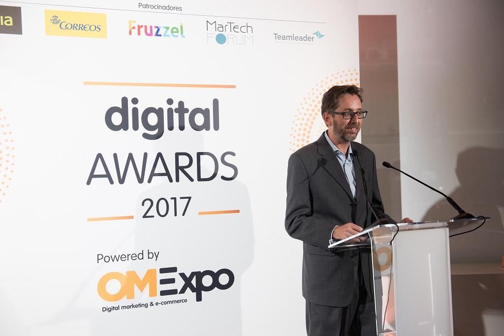 Fernando Rivero, CEO de ditrendia, en los Digital Awards 2017
