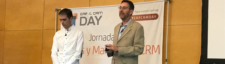 Fernando Rivero con José Cajide-ERP CRM day