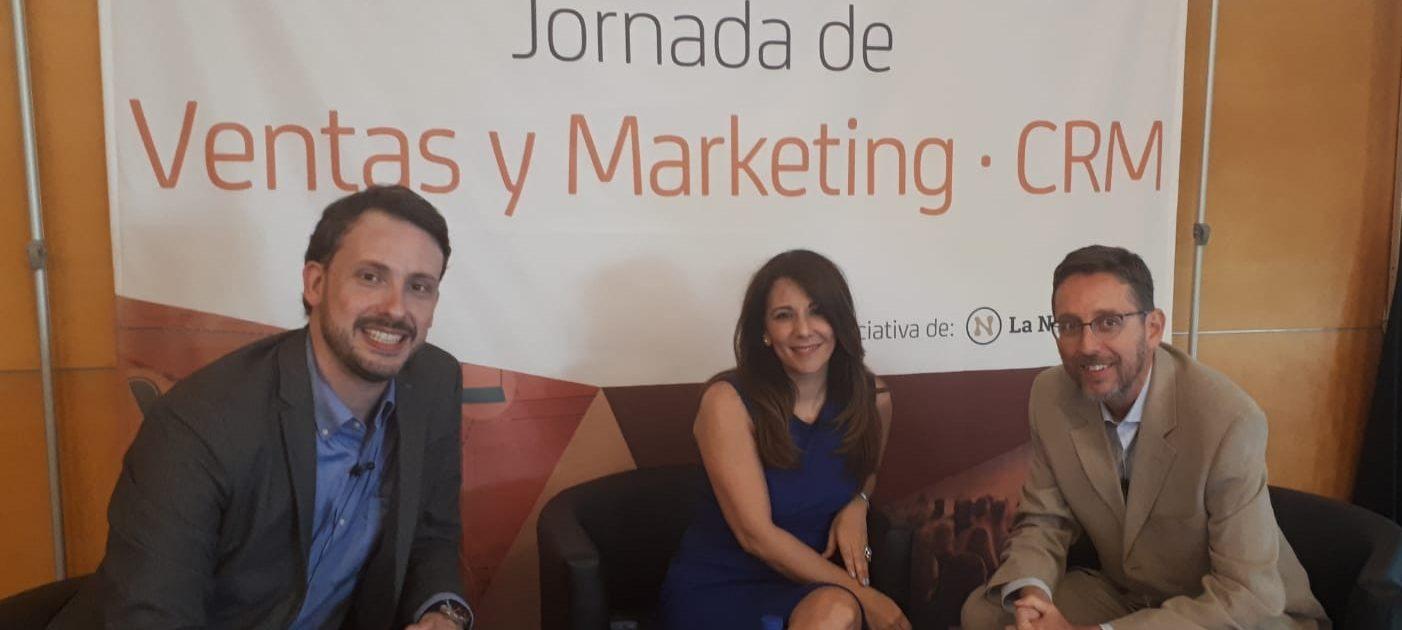 Fernando Rivero con SoniaTorrubiano y Pablo Vargas en ERP CRM day