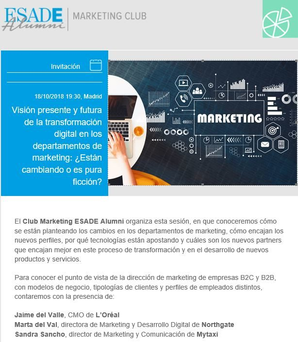 Visión presente y futura de la transformación digital en los departamentos de marketing - Esade